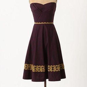 Girls From Savoy Aubergine Sky Dress
